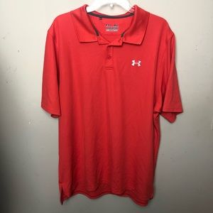 Under Armour | Orange Heat Gear Polo Shirt